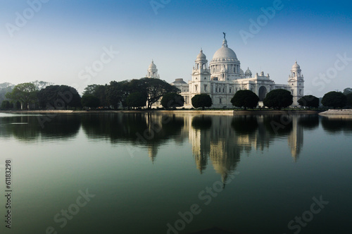 Vctoria Memorial, Kolkata , India - reflection on water.