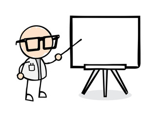 Scientist at a Whiteboard