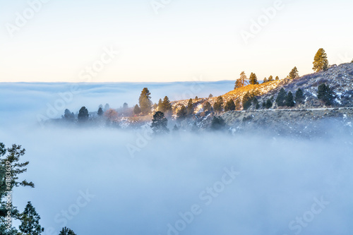 Inversion over Boise Idaho in the hills