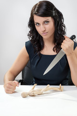 Stabbing Businesswomen