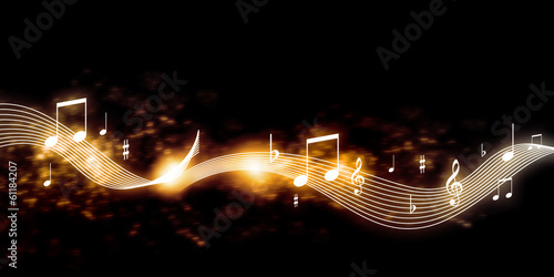 canvas print picture Music background
