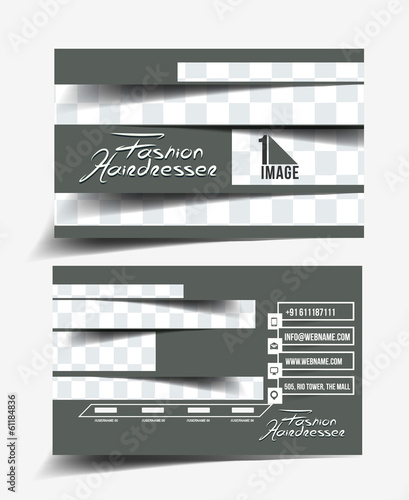 Hair Dresser & Salon Business Card Design
