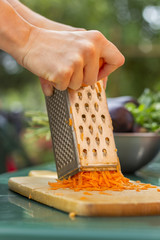 Shredding Organic Carrots
