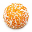Open mandarin, orange citrus fruit isolated.