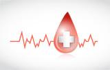 blood drop lifeline illustration design poster