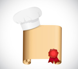 chef recipe illustration design