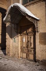 Old wooden house in the Irkutsk city