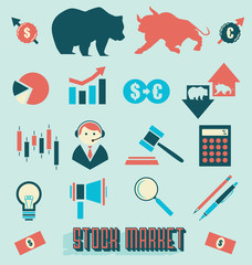 Vector Set: Stock Market Icons and Symbols