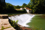 dam on Arga river. Pamplona