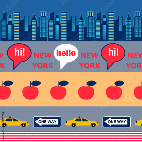 color New York pattern - 61187084