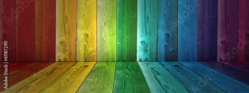 Vintage old colorful wood background