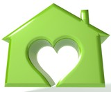 Green House Heart 3D image