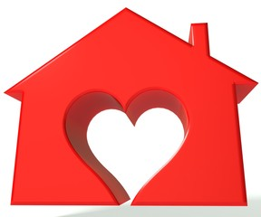 Red  House heart 3D image