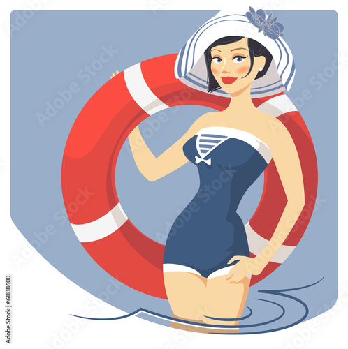 girl with lifebuoy