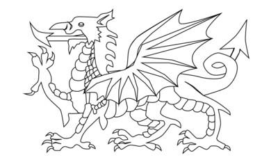 Welsh Dragon Outline