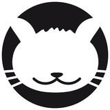 Cool Cat Face Logo
