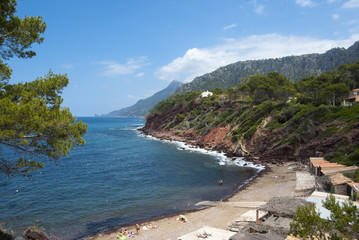 The coast of Mediterranean sea