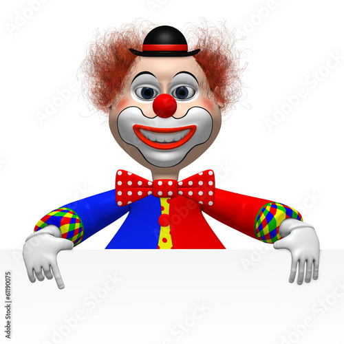 clown mit Tafel