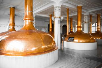a brewery building interior