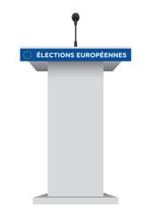 Pupitre Élections Européennes