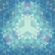winter retro triangle pattern. Retro raster illustration