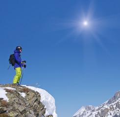 Auf dem Gipfel mit Ausblick