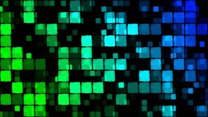 Glowing Squares Background - Loop