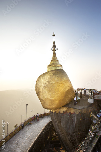 Golden Rock, Kyaiktiyo Pagoda in Kyaikto, Myanmar