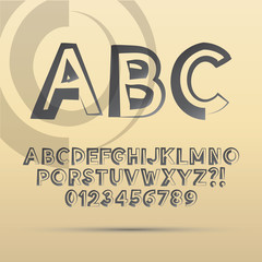Abstract ABC Font and Numbers, Eps 10 Vector Editable