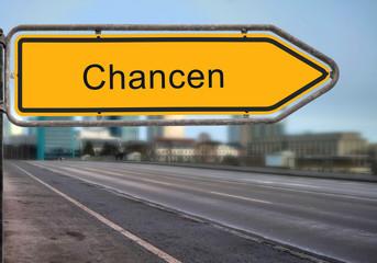 Strassenschild 14 - Chancen