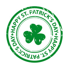St. patrick's day rubber stamp