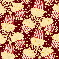 Seamless vector popcorn background