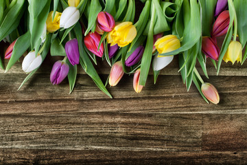 rustikaler Tulpenhintergrund