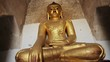 Gilded Buddha statue. Burma, Bagan