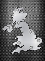 UK metal map