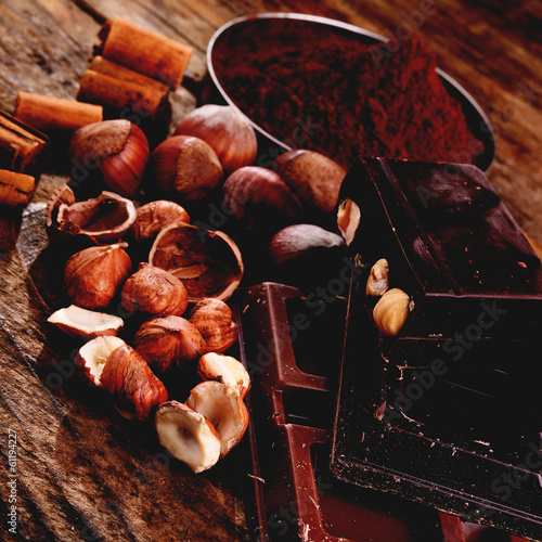 chocolate and some ingredients