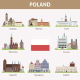 Fototapety Poland. Symbols of cities