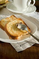 Toast of sweet bread
