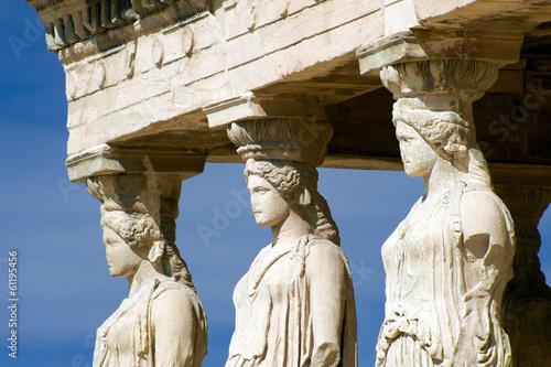 Staande foto Athene Caryatid sculptures, Acropolis of Athens, Greece