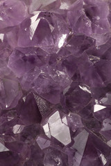 Amethyst crystallized structure
