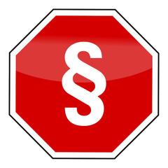 Stopschild mit Paragraphenzeichen