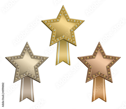 Award star ribbon