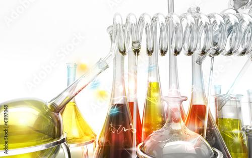 Alchimia, chimica, magia, alambicchi, stregoneria, provette - 61197048