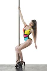Sexy professional pole dancer