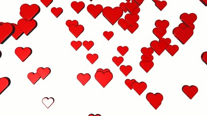 Fall of hearts for valentines day