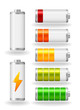 vector glossy battery fullness indicator - 61199281