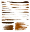 vector orange brush strokes