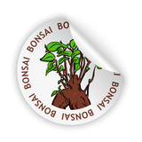 vector bonsai bent sticker