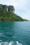 Island view tropical beach, andaman sea,Krabi Province Thailand