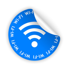 vector wifi bent sticker